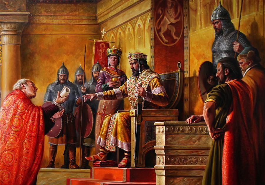 Прием при цар Симеон Велики, Мирослав Йотов